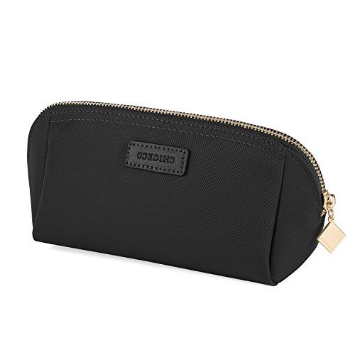 CHICECO Handy Cosmetic Pouch Clutch Makeup Bag - Black/Mediu