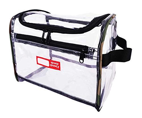 3222f0548253 Rough Enough Transparent Large Capacity Toiletry Bag Big