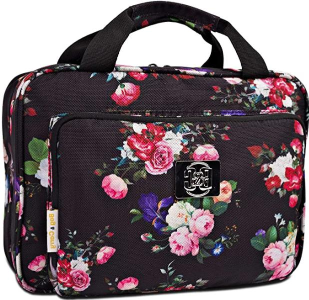 b and c large travel cosmetic bag
