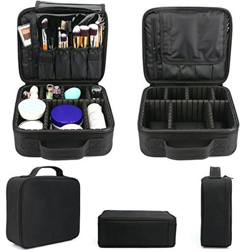 Travel Portable Makeup Case Storage Bag with Adjustable for Cosmetics Toiletry Digital