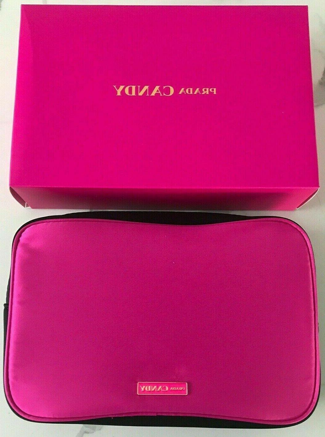 Prada Pouch Makeup Cosmetic Candy Perfume Pink/Gold NEW