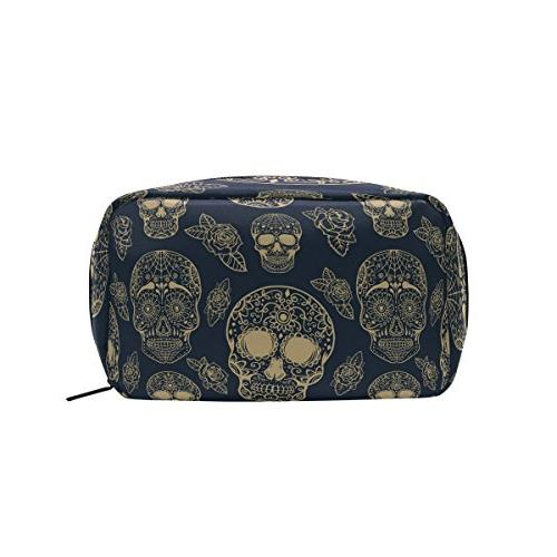 ALAZA Cosmetic Bag Makeup Bag Travel Bag Handy Large Wash Pouch Case Isolated Makeup