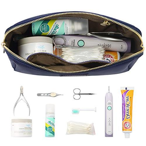 CHICECO Large Toiletry Bag for Women Skincare Navy Blue