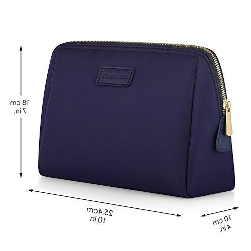 CHICECO Large Toiletry Skincare Cosmetic Pouch Navy Blue