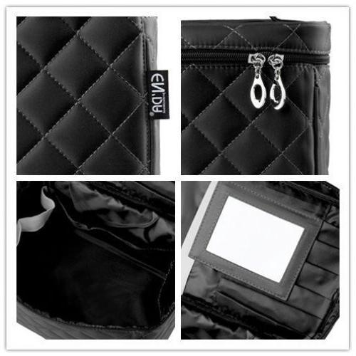 Big Size Bag Quality Zipper Layer Travel Case Black
