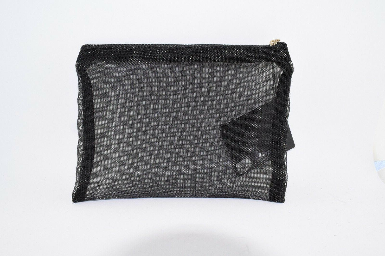 Giorgio Black Cosmetic Makeup Clutch NWT 7.5 6 X