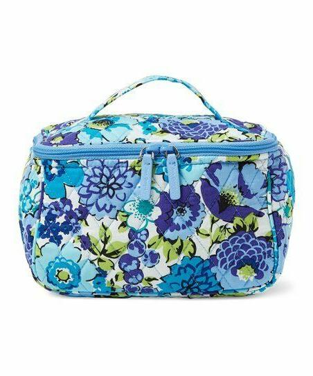 blueberry blooms travel cosmetic makeup bag nwt