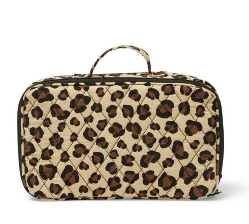 blush and brush makeup case leopard cosmetic