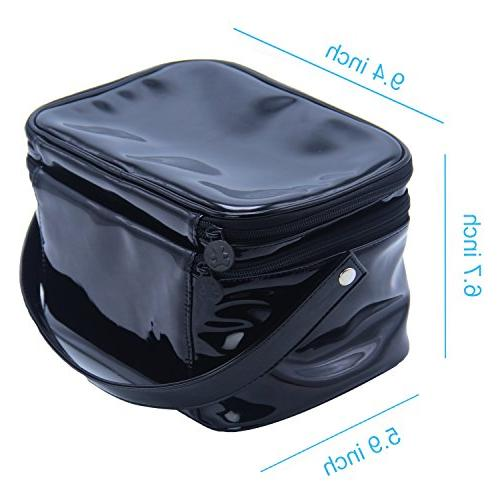 Relavel 2 Capacity Cosmetic Makeup organizer with Belt Strap Holder Multifunctional for Home