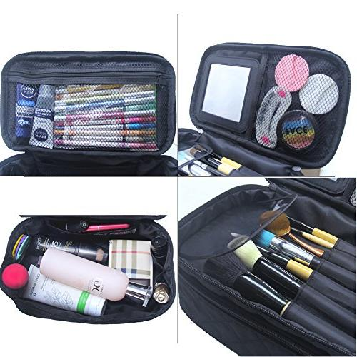Relavel Bag Large Cosmetic Makeup Brushes Bags Makeup Pouch for Travel