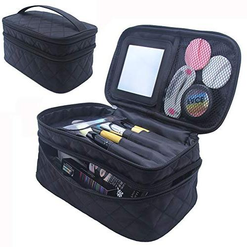 d2f3e5f6e12a Relavel Travel Makeup Bag Large Cosmetic Makeup Brushes