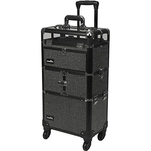 Sunrise Travel Cases I31064 Professional 2-in-1 Rolling Make