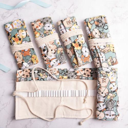Cat Holder Wrap Roll Pen Brushes Pouch