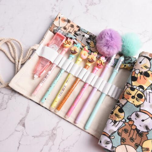 Cat Bag Wrap Roll Up Pen Brushes Pouch SL