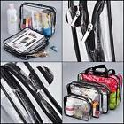 Hotop 4 Pieces Clear Make-up Bags Travel Toiletry Bag Organi