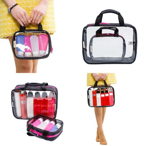 clear toiletry bags 2 pack full size
