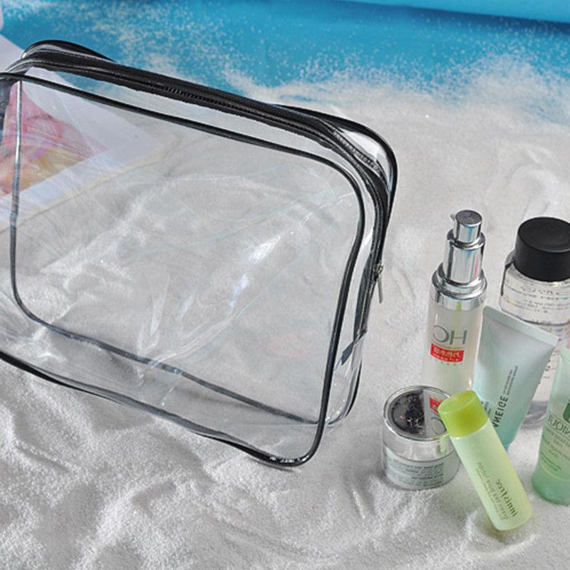 Clear Waterproof Cosmetic Toiletry PVC Zip Travel Makeup Pouch