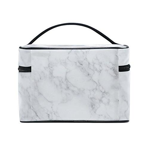 Cooper girl Marble Cosmetic Makeup Train Cases Storage