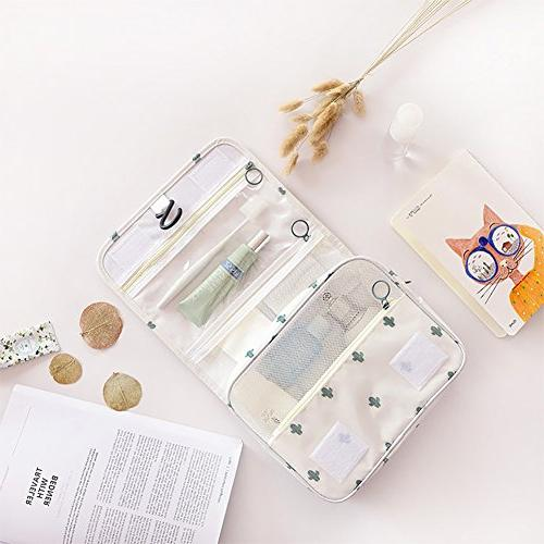 Cosmetic Girls Durable Carry Case for Trip Gym White Catus
