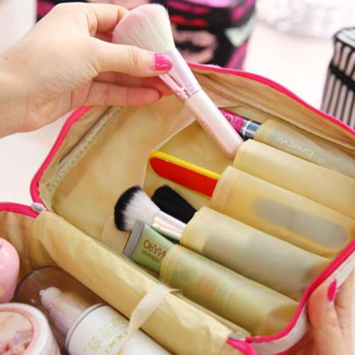 Ladies Travel Toiletry Women Cosmetic Makeup Case Storage