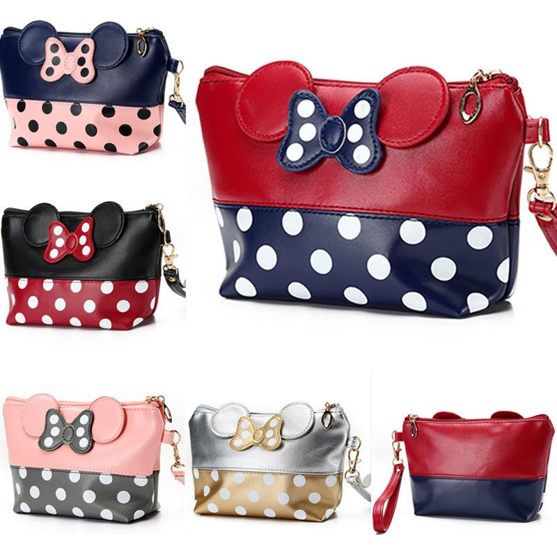 Travel Cosmetic Bags Cartoon Minnie Mouse Case Zipper Makeup