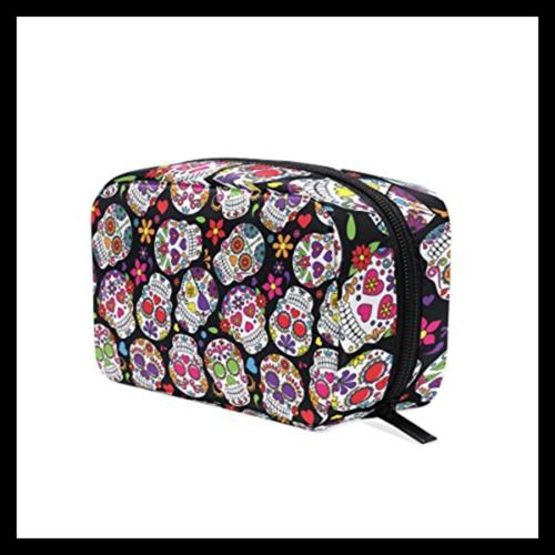 ALAZA Day Of The Dead Sugar Cosmetic Bag