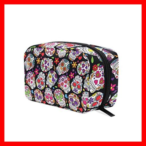 ALAZA Day Of Dead Skull Cosmetic Bag Portable Lad