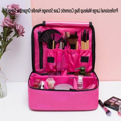 Large Makeup Bag Cosmetic Case Storage Handle Travel Organiz