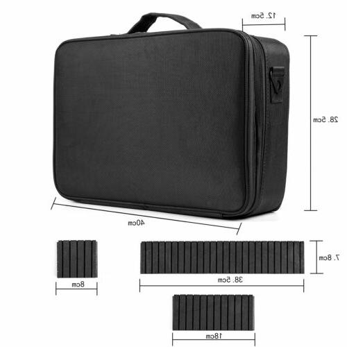 16inch Cosmetic Travel Storage Organizer Dividers Backpack