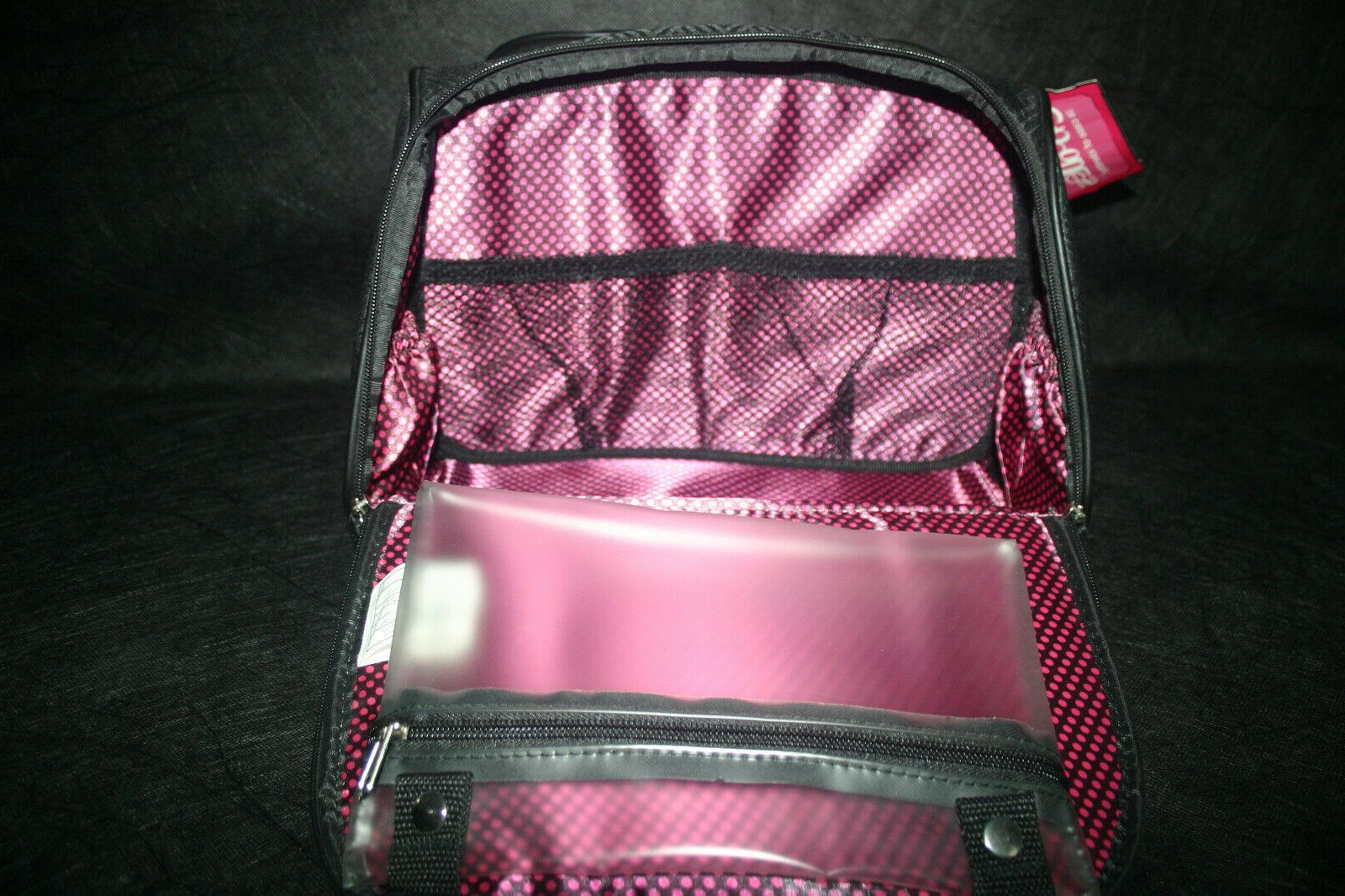 CABOODLES FEMME FATALE AOTE BLACK SOFT FABRIC COSMETIC BAG NEW