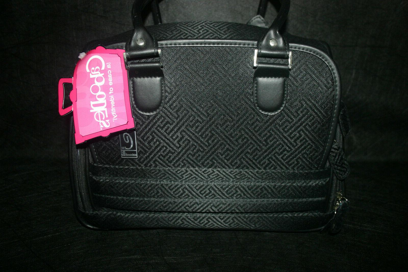 CABOODLES FATALE AOTE BLACK SOFT FABRIC COSMETIC BAG