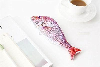 Fish Shape Case Cosmetic Pouch Pocket Brush US