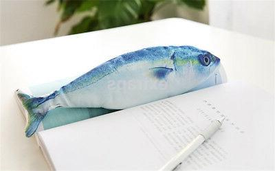Fish Case Cosmetic Pouch Brush Holder Makeup Bag US