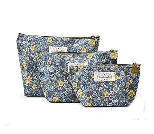 floral flower toiletry pouch waterproof