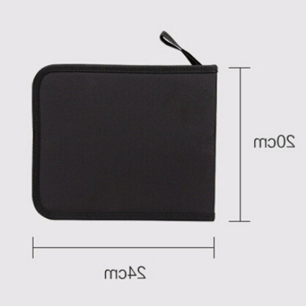 Folded Pencil Case Drawing Makeup Hole Bags