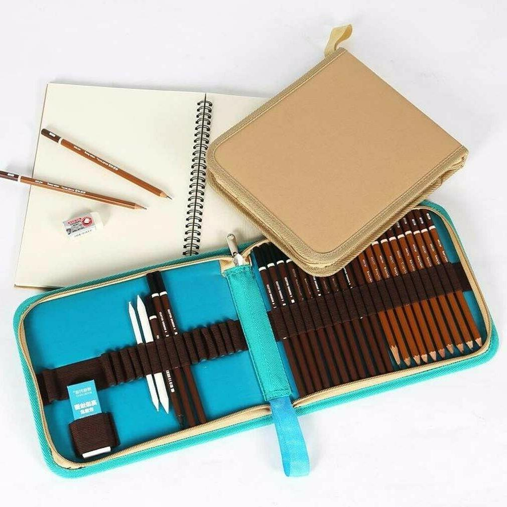 folded pen pencil case drawing sketching bag