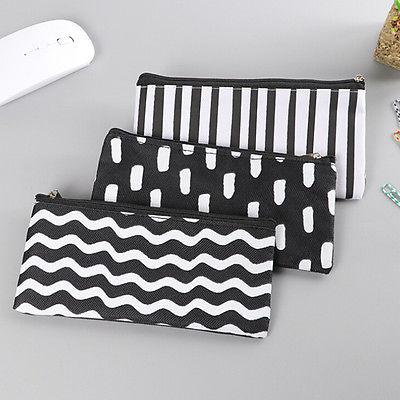 Girl Black Pen Case Cosmetic Pouch Pocket Holder Makeup BHCA
