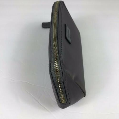 CHICECO Clutch Bag Gray Nylon Shell Shape New