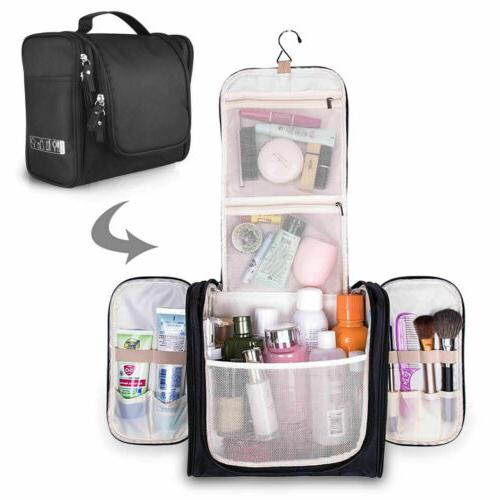 Hanging Toiletry Bag Travel Makeup Cosmetic Kit Large Essent