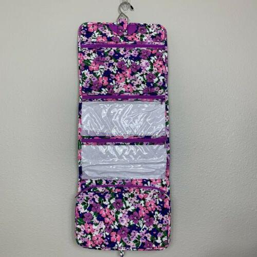 hanging organizer cosmetic travel bag case flower