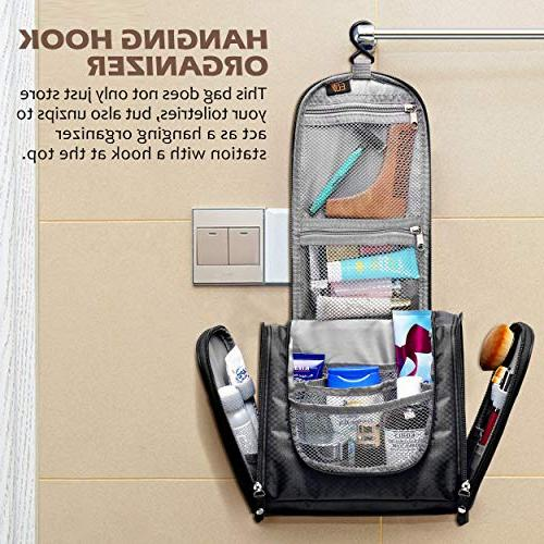 Hanging Toiletry Bag, Large Toiletry Bag Kit Organizer for Shower, Camping men with Shoe bags