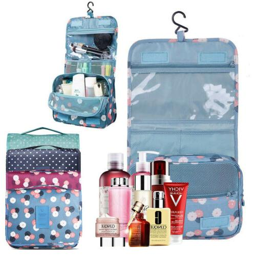 Personal Travel Shower Makeup Organizer Hanging Toiletry Was