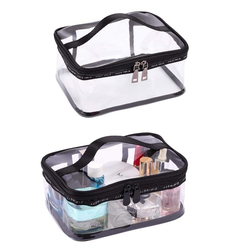 Black + Travel <font><b>Cosmetic</b></font> <font><b>Case</b></font> Organizer with Handle