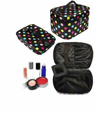 HOYOFO 3Pcs Bags for Polka Dot Travel Cosmetics and Storag