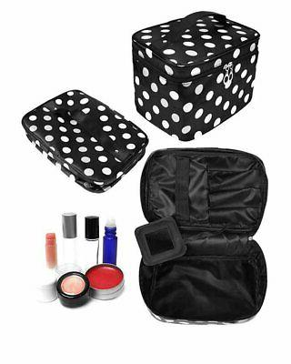 HOYOFO 3Pcs Makeup for Polka Dot Travel Cosmetics and Storag