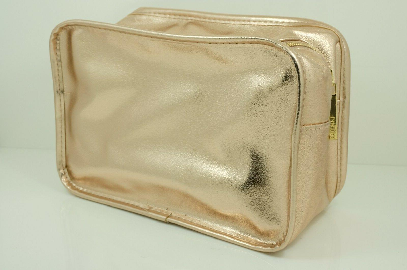 lancome golden gold large cosmetic accessory pouch