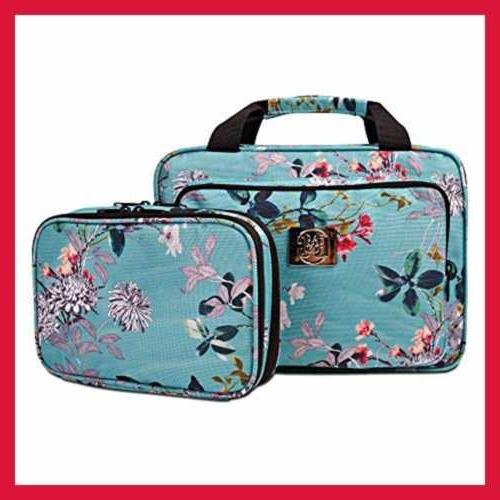 Large Cosmetic Bag For Women Toiletry & Makeup Pockets