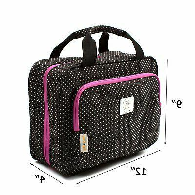 Large Polka Cosmetic Bag - Large Hanging Travel Toiletry Cosmetic