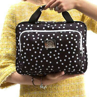 Large Polka Dot Cosmetic Hanging Travel Cosmetic