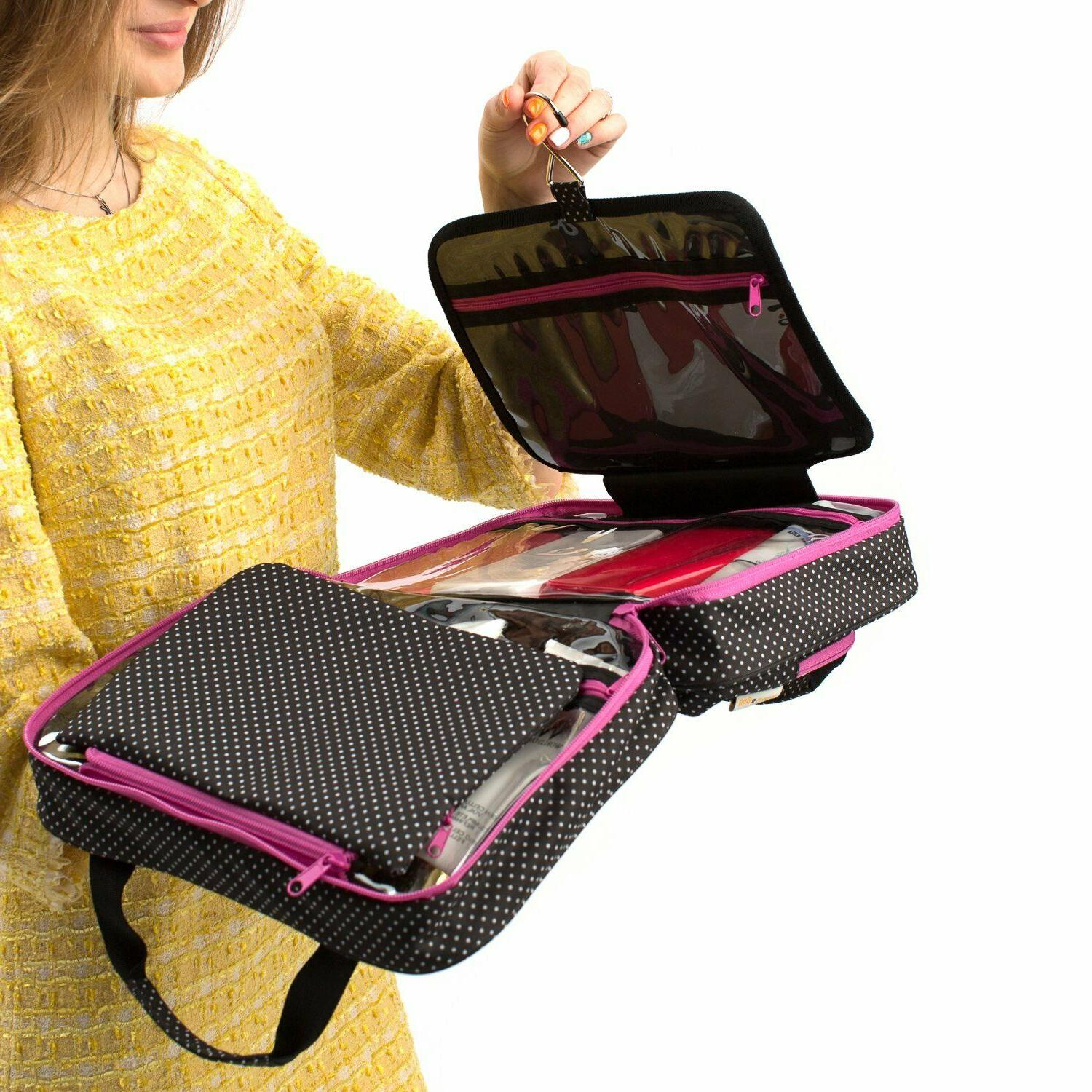 Large Cosmetic Bag For Women - Travel Toiletry Bag